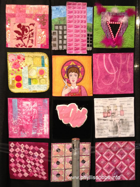 Twelve by Twelve Pink Colorplay Quilt at Houston Quilt Market