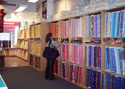 Fabrics in the City Quilter quilt shop.