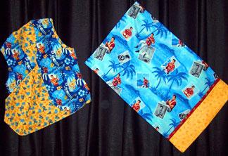 Elvis fabric vest and pillowcase