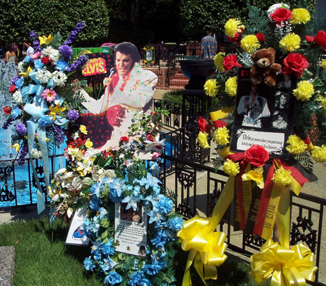 Floral displays sent during Elvis Week at Graceland