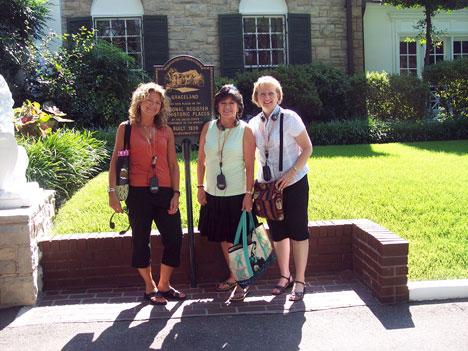 Us girls waiting to tour Graceland