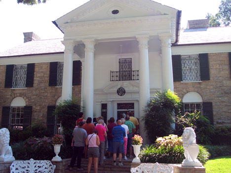 People lined up to enter Graceland