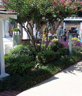 Walkway to Serenity Gardens at Graceland