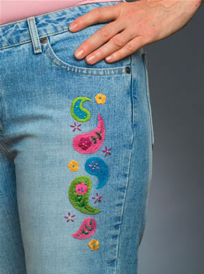 Paisley Denimbroidery kit