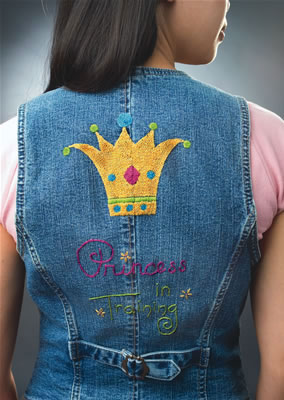 Princess in Training Denimbroidery kit