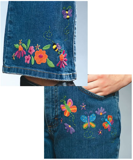 DenimBroidery embroidered jeans
