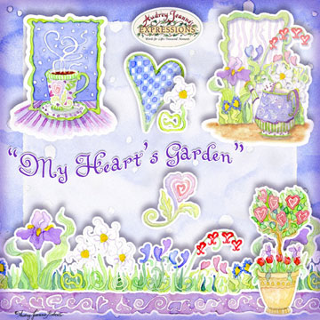 My Hearts Garden Digital Scrapbook Kit