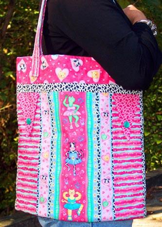 Pink Sweetheart Ballerina tote bag