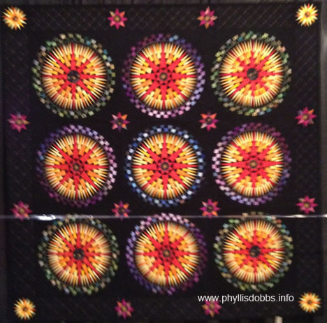 A Starlit Night Quilt by Soon-Joong Kim at Houston Quilt Market