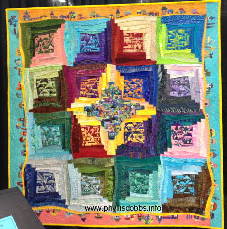Around the Block Quilt by Karen Echmeier