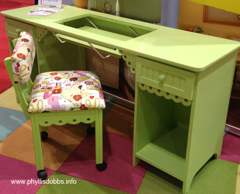 Arrow bright green sewing cabinet