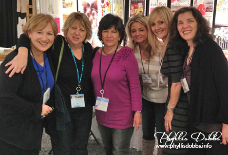 Artists meeting up in the License and Design at Atlanta Gift Market