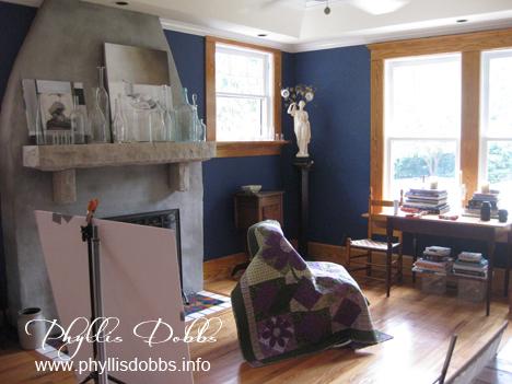 Asymmetrical Quilt book photography fireplace