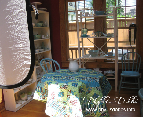 Asymmetrical Quilts book photography in the kitchen