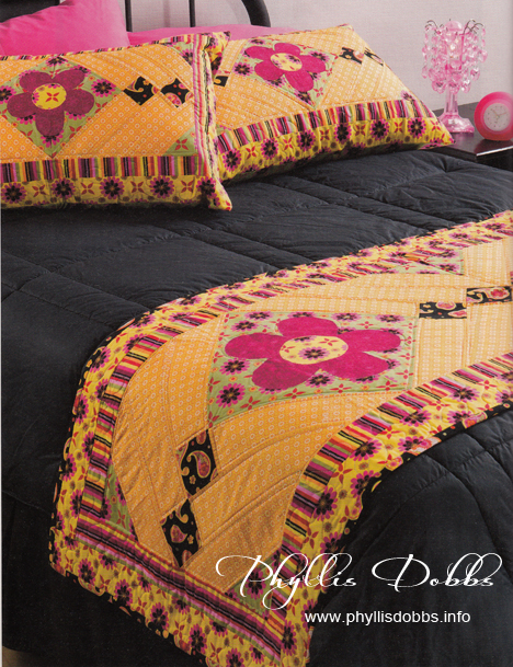 Bed Runners and More quilt Summer Blossoms by Phyllis Dobbs