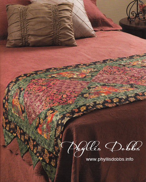 Bed Runners & More quilt Warm Splendor by Phyllis Dobbs