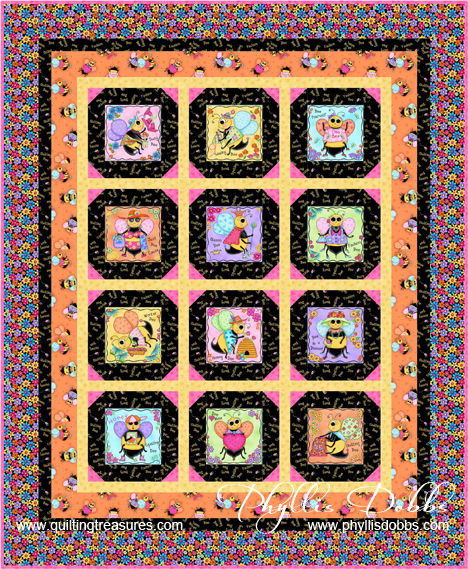 Free Pattern Bee Yourself Quilt Quilting Treasures