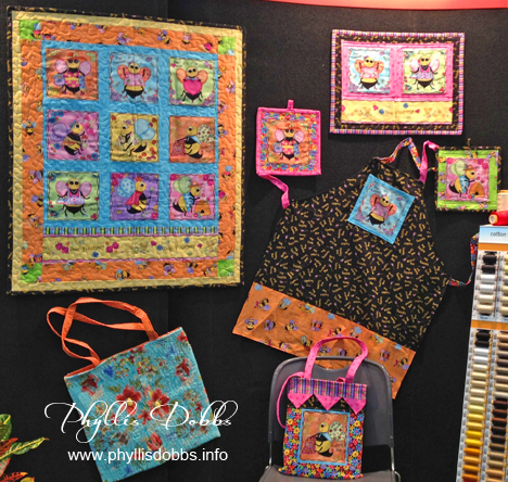 Bee Yourself projects at Quilt Market