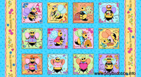Bee Yourself Fabric Blocks Phyllis Dobbs