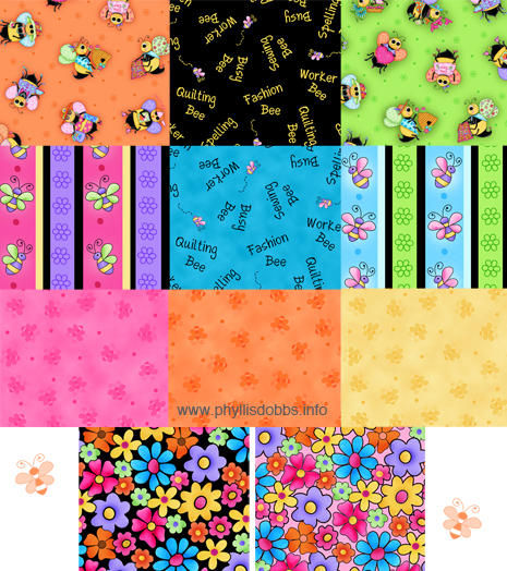 Bee yourself fabric collection Phyllis Dobbs Quilting Treasures