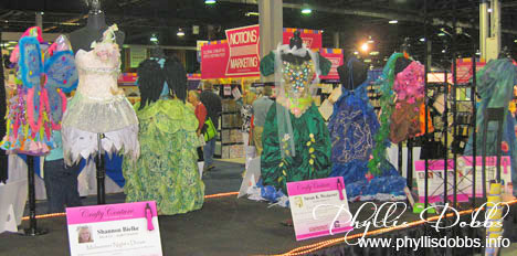 Mixed Media dresses in CHA's Crafty Couture display
