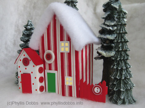 Peppermint Candy Christmas House from Sizzix die