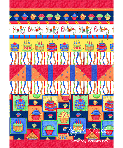 Free Pattern for Happy Birthday banner by Phyllis Dobbs