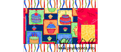 Celebrate Happy Birthday Placemat with pocket