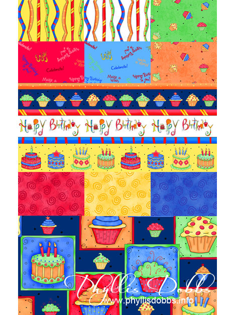 Celebrate fabrics for birthdays and other celebrations