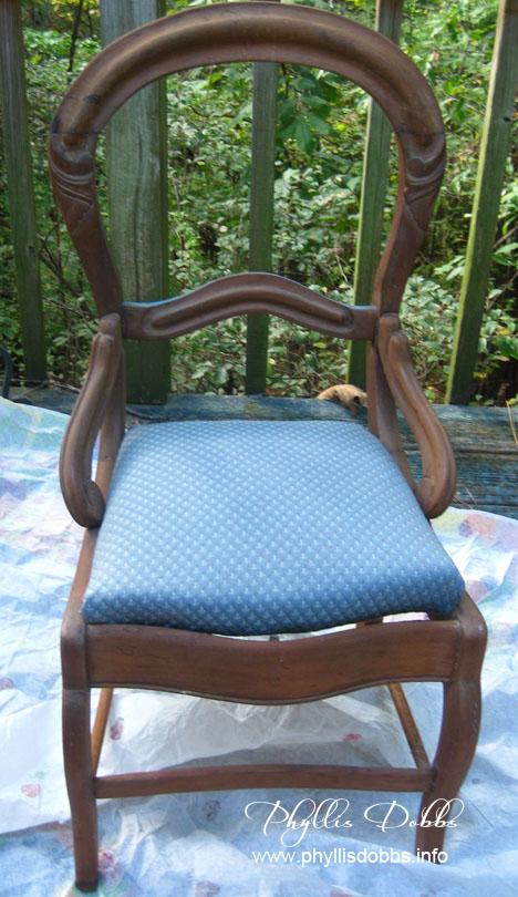 Unfinish chair for Phyllis Dobbs studio