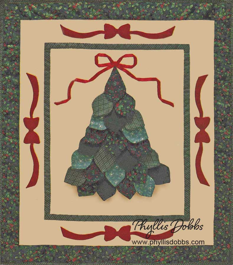 Dimensional Christmas Tree Quilt Pattern
