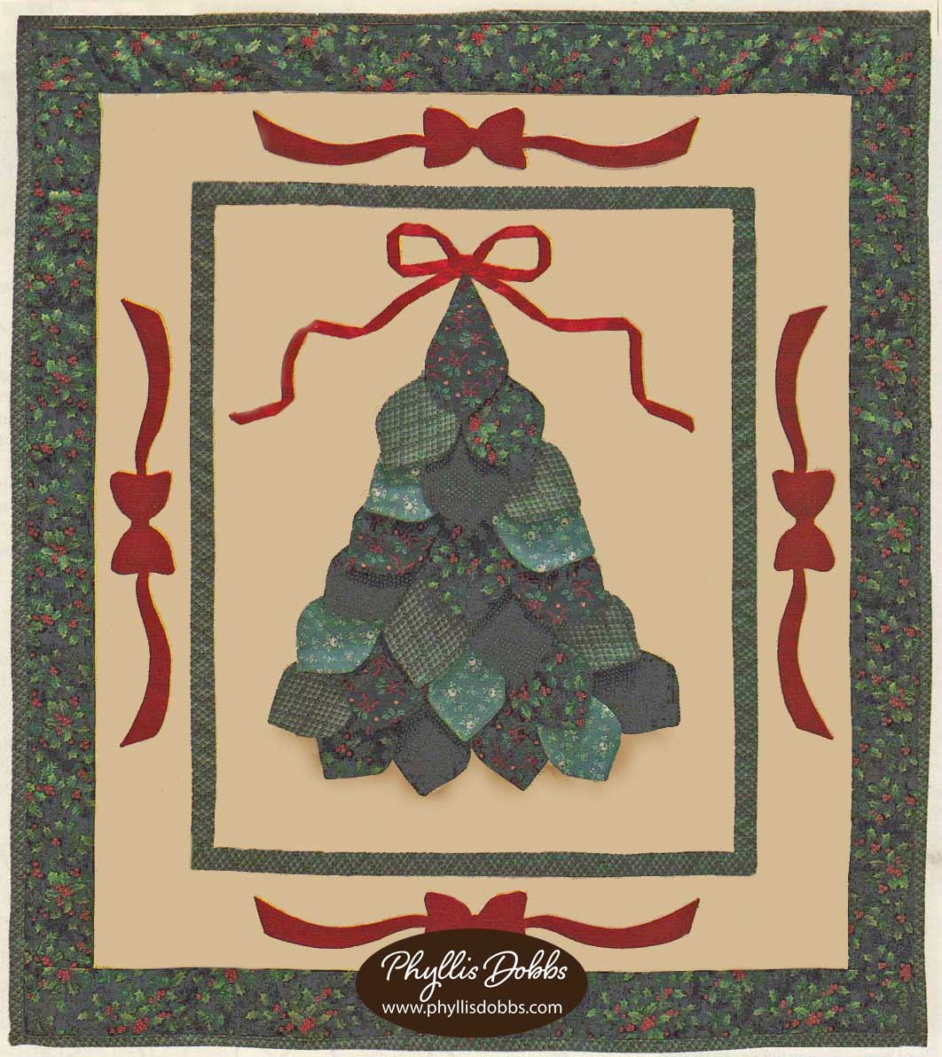 Christmas Tree and Bows Quilt Pattern