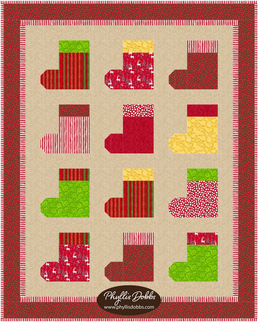 Christmas Stocking Quilt Pattern