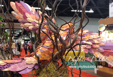 Paper Bird Sculpture at the DCWV booth at CHA