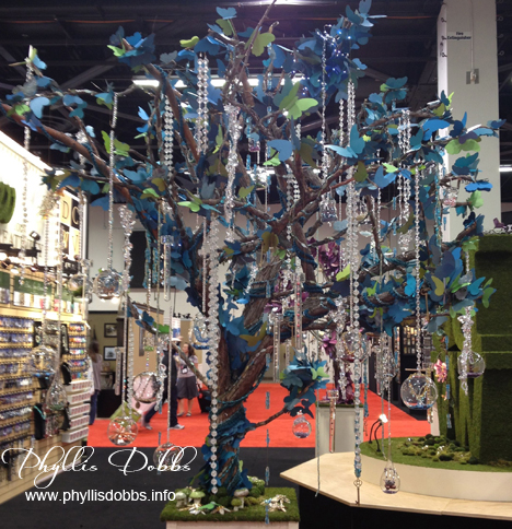 Paper tree with beads by DCWV at CHA
