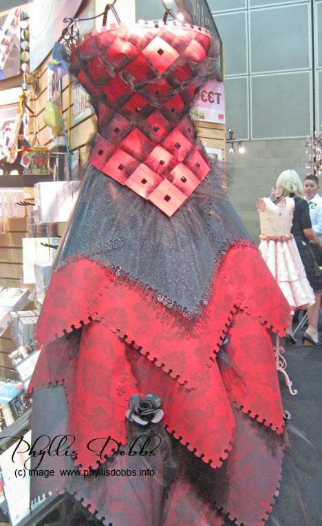 DCWV paper runway dress