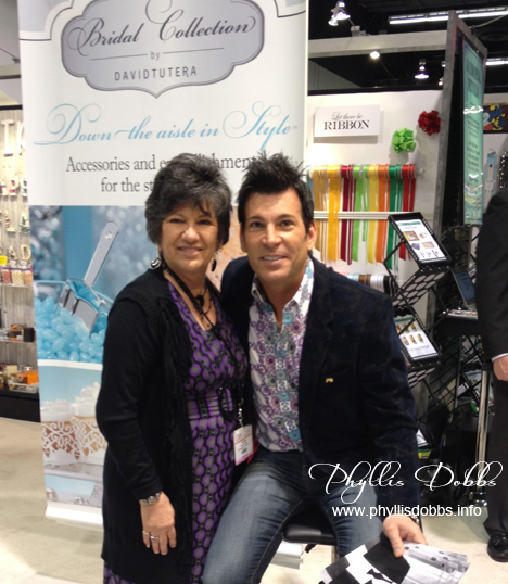 David Tutera at Darice booth at CHA