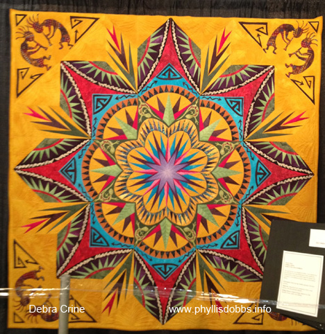 Desert Daze by Debra Crine quilt at Houston Quilt Market