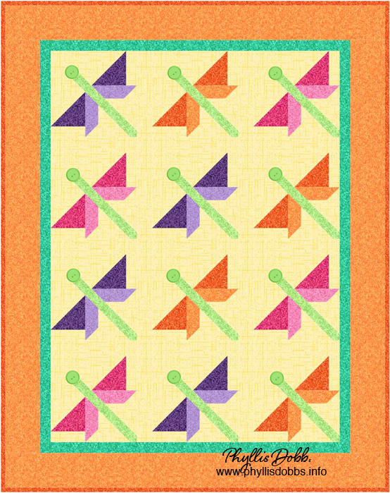 Dragonfly Flight Quilt Phyllis Dobbs