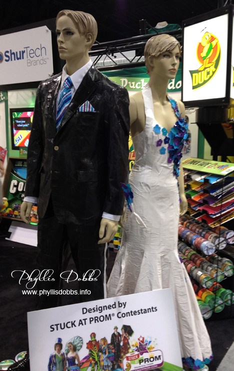 Duck tape prom dress and suit at CHA