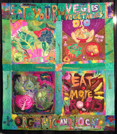 Eat Your Vegies Quilt from Houston Quilt Market