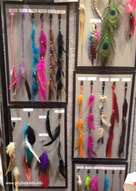 Feather trim by Expo International at Quilt Market
