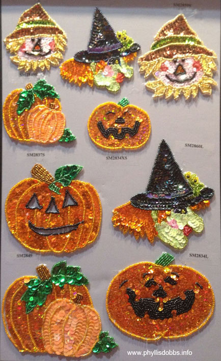 Halloween applique trim by Expo International at Quilt Market
