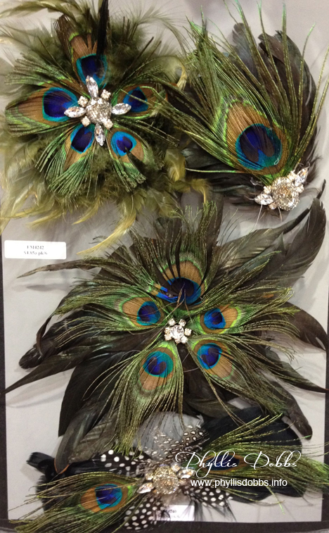 Peacock feather trim by Expo International at CHA