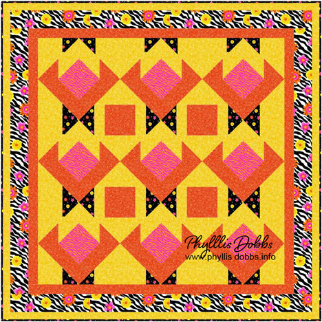 Wild Flower quilt pattern autumn splendor