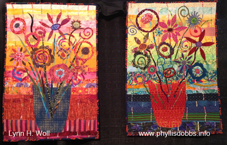 Flowers for Me Diptych quilt
