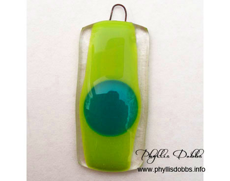 Fused Glass pendent made in class