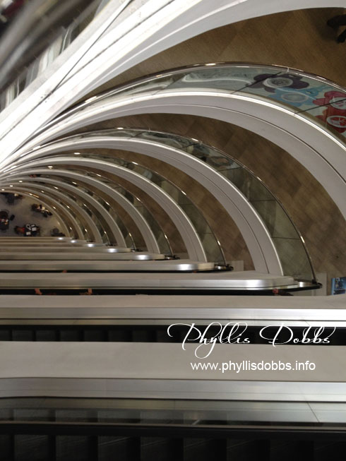 Escalators in Atlanta Gift Market Building 2