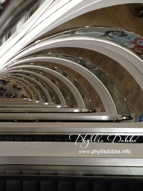 Escalators in Atlanta Gift Market Building 2