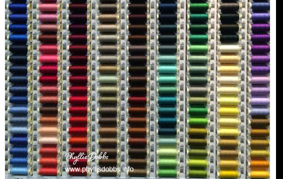 Colorful Gutermann Threads